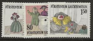 Liechtenstein 823-825 [m] bc37