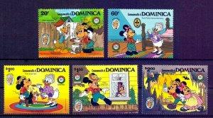 DOMINICA - 1985 - DISNEY - TOM SAWYER - MICKEY - MINNIE - MARK TWAIN - MINT SET!