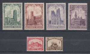 Belgium Sc B78-B83 MNH. 1928 Semi Postals complete