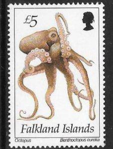 FALKLAND ISLANDS SG712 1994 £5 MARINE LIFE MNH