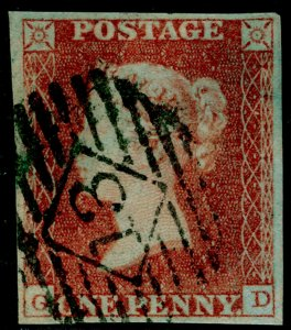 SG8, 1d red-brown, FINE USED. Cat £35. 4 MARGINS. GD