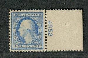 US Sc#340 M/NH/VF-EF, Plate # Single, Cv. $160