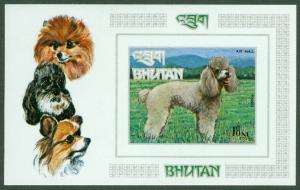 EDW1949SELL : BHUTAN 1972-3 Scott #149N Dogs. Imperforated S/S. Very Fine, MNH.