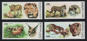 Burkina Faso Big Cats Lions Cheetah Caracal Leopard 4v SG#1154-1157