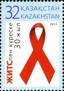 Kazakhstan 2011 MNH Stamps Scott 641 Fight Against AIDS Health Medicine