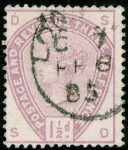 SG188, 1½d lilac, USED. Cat £42. SD