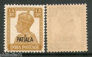 India Patiala State 1An3ps KG VI Postage Stamp SG 107 / Sc 106 MNH