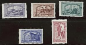 ROMANIA Scott B394-53 MH* 1947 semi-postal stamp set