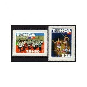 Tonga 524-525,MNH.Michel 831-832. 12th Commonwealth Games 1982.Decathlon.