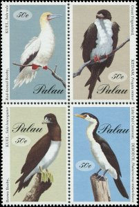 Palau 1994 Sc 324 Birds Booby Cormorant Frigatebird CV $4