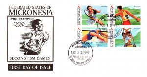 Micronesia, Worldwide First Day Cover, Sports
