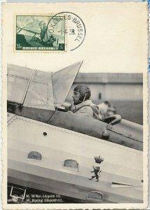 57000 - BELGIUM - POSTAL HISTORY: MAXIMUM CARD 1938 - ROYALTY / Aviation