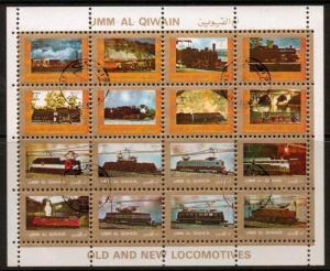 UMM AL QIWAIN Mi1210/25  1972 LOCOMOTIVES F/USED