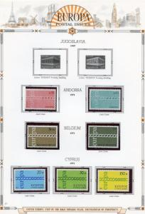 EUROPA  1971  SELECTION OF MINT NH STAMPS AND SOUVENIR SHEETS AS SHOWN