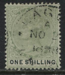 Lagos QV 1887 1/ yellow green & black used