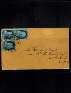 Scott 24 F/VF on cover. SCV - $120.00