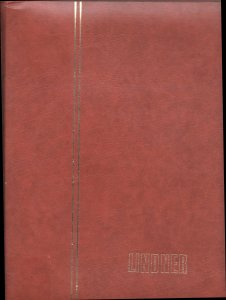 30 Page Lindner White Page Stockbook / Brown Cover
