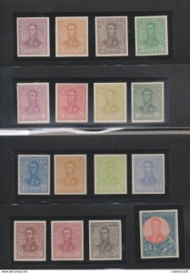 E)1917 ARGENTINA, GENERAL JOSE DE SAN MARTIN, POLITICAL, MILITARY, CENTS, COLORS