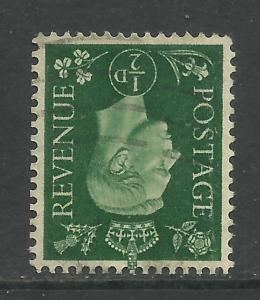 GB 1937 KGV1 1/2d Green Inverted wmk 127 SG 462wi ( E327 )