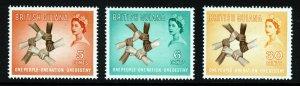 BRITISH GUIANA QE II 1961 History & Culture Week Set SG 346 to SG 348 MINT