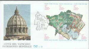 VATICAN POPE JOHN PAUL II MAP 1986 FDC R202091