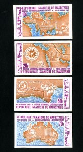 Mauritania Stamps # C90-3 Imperf NH