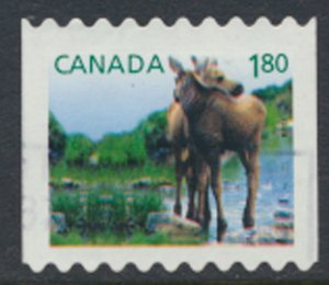 Canada  SG 2714  Used  Coil stamp   Two Young Moose    SC# 2512   see scan