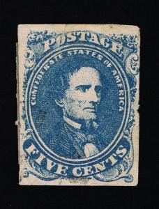 GENUINE CONFEDERATE CSA SCOTT #4 STONE-3 MINT NG EXPERTLY PLATED POSITION #35