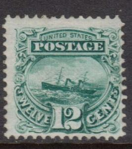 USA #117 NH Mint Rare With Grill - Natural Light Gum Disturbance