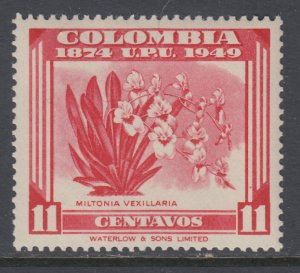 Colombia 585 UPU Flower MNH VF