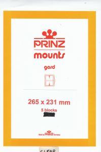 PRINZ CLEAR MOUNTS 265X231 (5) RETAIL PRICE $17.50