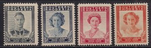 Southern Rhodesia 1947 KGV1 Set 4 Victory stamps Umm SG 64 - 67 ( F615 )