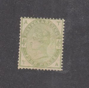 GREAT BRITAIN # 103 VF-MNG 4d GREEN CAT VALUE $575