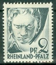 Germany - French Occupation - Rhine Palatinate - Scott 6N1 (SP)