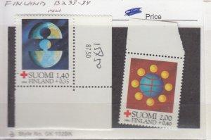 J25864  jlstamps 1984 finland set mnh #b233-4 red cross