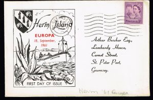 CANADA STAMP HELM ISALND 1961  FDC EUROPA