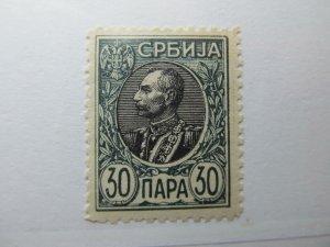 Serbien Serbia 1905-11 30p Perf 11½ Fine MH* A5P18F371
