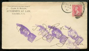 U.S. T III 1st Bur. Iss. on 1897 Cover w/Pointing Finger Return To Writer Marks