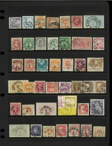 Sweden 19th Century-1980's Postmark Collection on Vario Pages