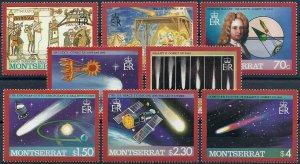 1986 Montserrat Halley´s Comet, compl. set 8 values VF/MNH, CAT 10$