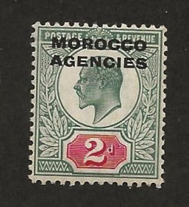 GREAT BRITAIN OFFICES - MOROCCO SC# 203   F/MOG 1907