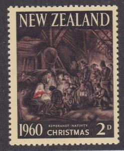 New Zealand # 353, Christmas - Rembrandt Painting, NH, 1/2 Cat.