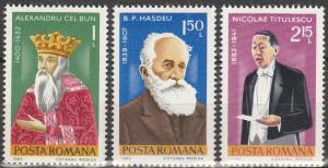 Romania #3049-51  MNH F-VF  (V3827)