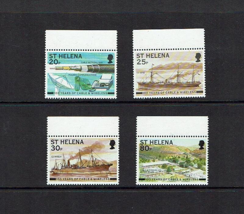 Barbados: 1999 Centenary of Cable & Wireless, boats/ships, MNH set