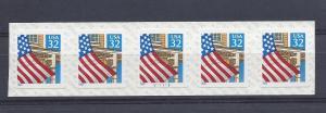 United States, 2915, Flag/Porch Plate Strip of 5 Plt#: V11111,  **MNH**