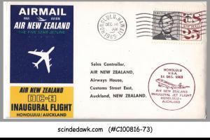 USA - 1965 AIR NEW ZEALAND DC-8 HONOLULU to AUCKLAND FIRST FLIGHT COVER FFC