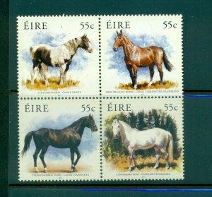 Ireland - Sc# 1939a. 2011 Horses. MNH Block. $6.00.