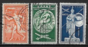 1954 Greece C71-3 NATO 5th Anniversary C/S used