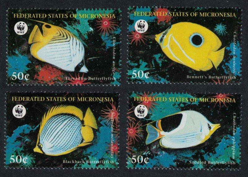 Micronesia MNH 579-82 Butteryflyfish Marine Life 1997