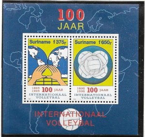 Surinam #995a  Volleyball Souviner/Sheet  (MNH)  CV7.00